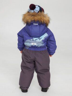 Комбинезон зимний для мальчика UKI kids «Орел» синий сзади
