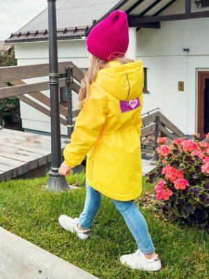 Парка демисезонная для девочки Nikastyle 5м2620 желтый фото сзади