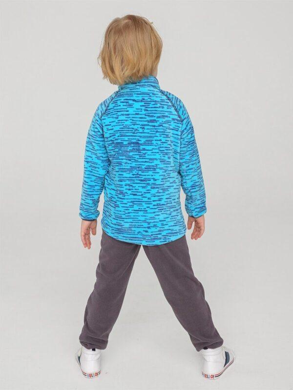 Кофта флисовая UKI kids «Забота» синий меланж 1