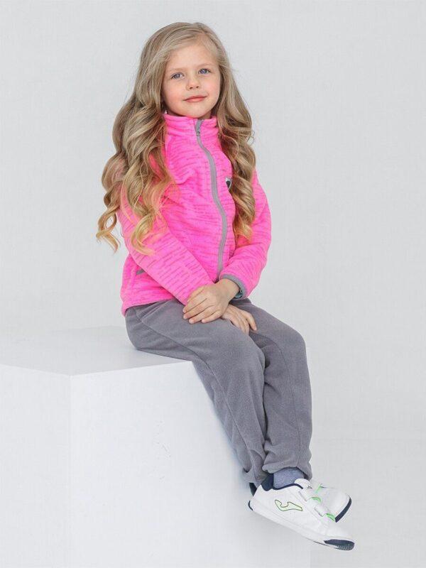 Кофта флисовая UKI kids «Забота» розовый меланж 2