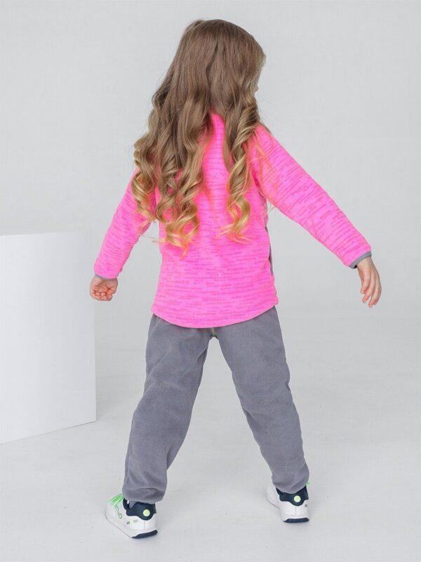 Кофта флисовая UKI kids «Забота» розовый меланж 1