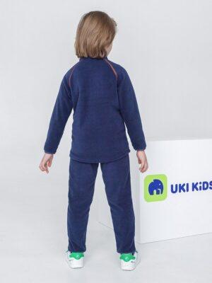 Кофта флисовая UKI kids «Забота» темно-синий 1
