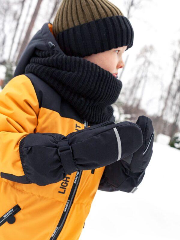 Варежки мембранные зимние Nikastyle 14з13721 черный