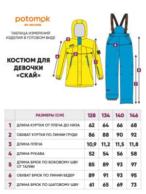 Комплект зимний для девочки Potomok by UKI kids Скай