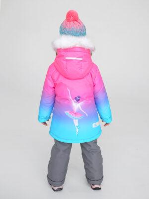 Комплект зимний для девочки UKI kids Балет розовый-голубой 2