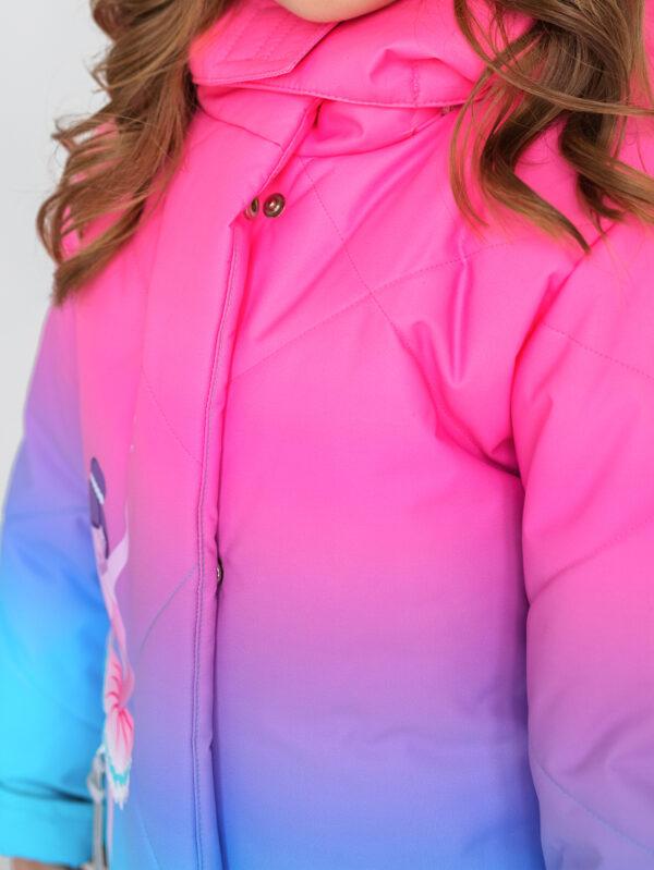 Комплект зимний для девочки UKI kids Балет розовый-голубой 4