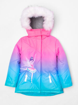 Комплект зимний для девочки UKI kids Балет розовый-голубой 6