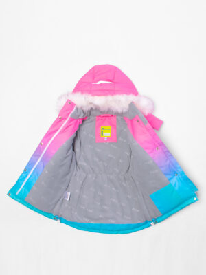 Комплект зимний для девочки UKI kids Балет розовый-голубой 7