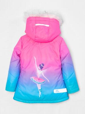 Комплект зимний для девочки UKI kids Балет розовый-голубой 8