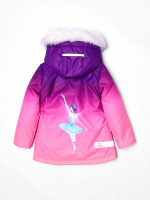 Комплект зимний для девочки UKI kids Балет фиолетовый-коралл 10