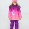 Комплект зимний для девочки UKI kids Балет фиолетовый-коралл