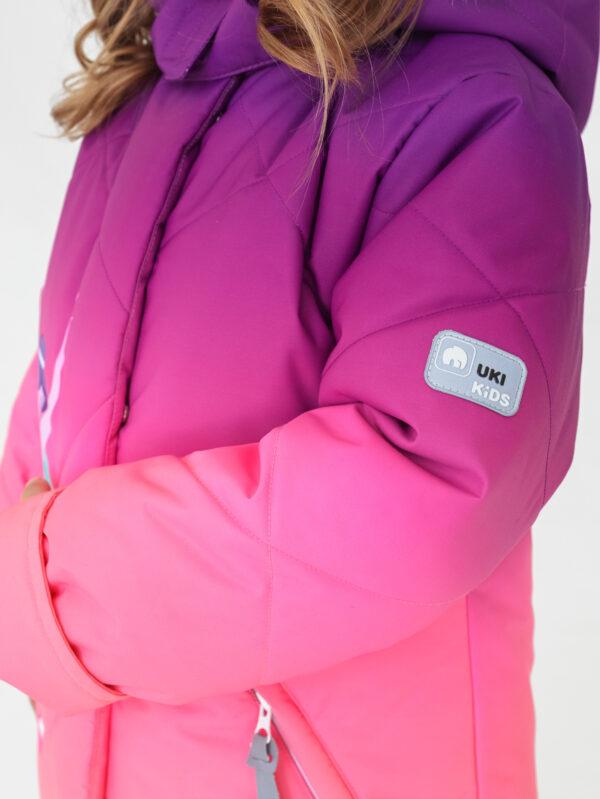Комплект зимний для девочки UKI kids Балет фиолетовый-коралл 3