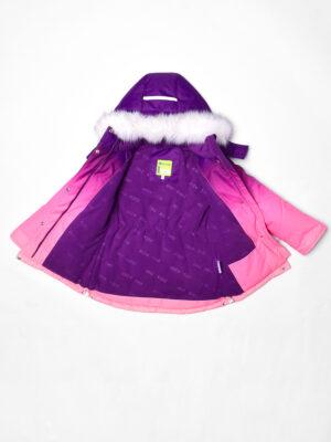 Комплект зимний для девочки UKI kids Балет фиолетовый-коралл 8