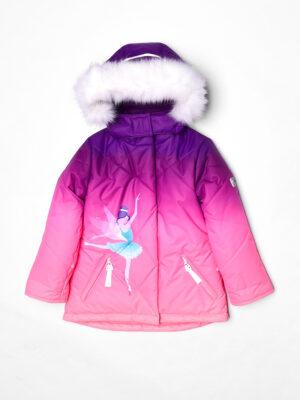 Комплект зимний для девочки UKI kids Балет фиолетовый-коралл 9
