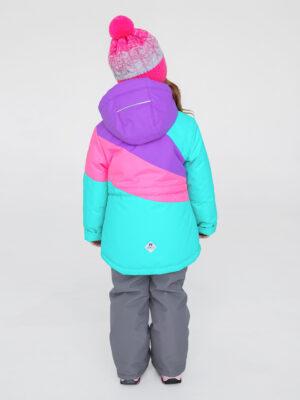 Комплект зимний для девочки UKI kids Радуга мятный 1