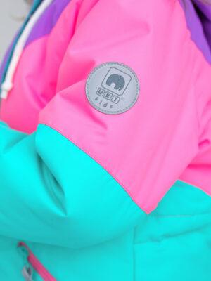 Комплект зимний для девочки UKI kids Радуга мятный 2