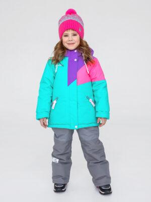 Комплект зимний для девочки UKI kids Радуга мятный