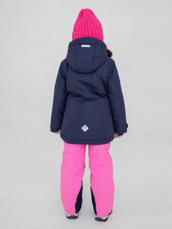 Комплект зимний для девочки UKI kids Сюзанна синий-розовый 3