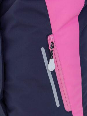Комплект зимний для девочки UKI kids Сюзанна синий-розовый 4