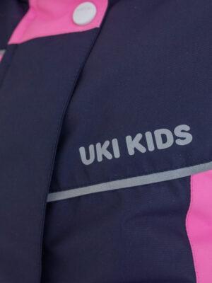 Комплект зимний для девочки UKI kids Сюзанна синий-розовый 5