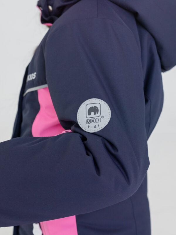 Комплект зимний для девочки UKI kids Сюзанна синий-розовый 6