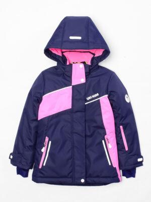 Комплект зимний для девочки UKI kids Сюзанна синий-розовый 7