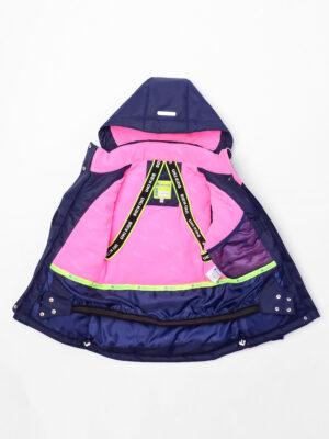 Комплект зимний для девочки UKI kids Сюзанна синий-розовый 8