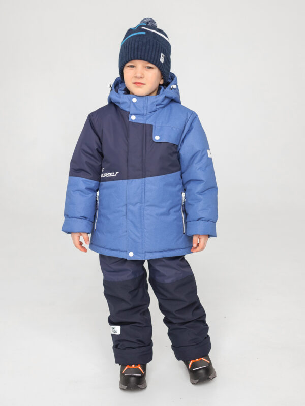 Комплект зимний для мальчика UKI kids Деним синий-джинс 2