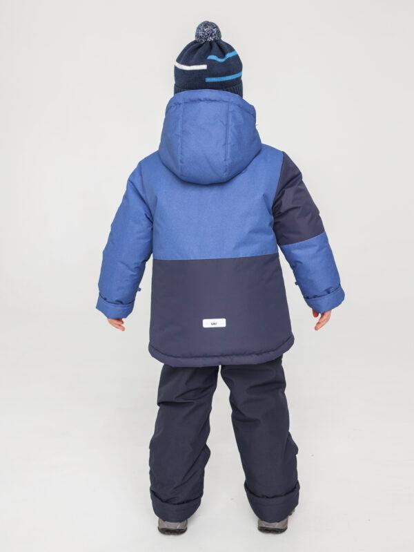 Комплект зимний для мальчика UKI kids Деним синий-джинс 3