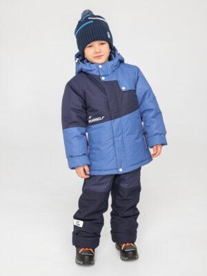 Комплект зимний для мальчика UKI kids Деним синий-джинс