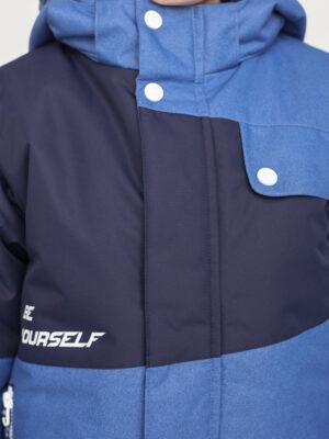 Комплект зимний для мальчика UKI kids Деним синий-джинс 7