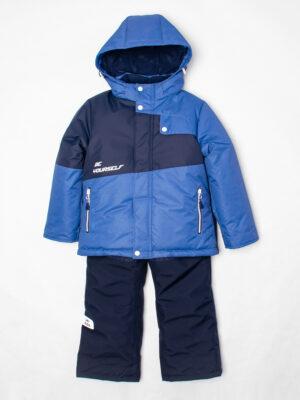 Комплект зимний для мальчика UKI kids Деним синий-джинс 8