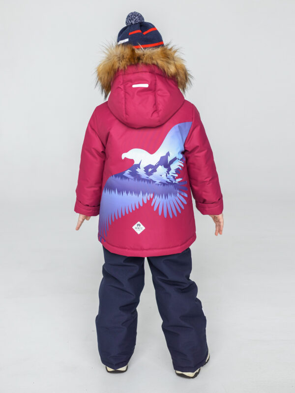 Комплект зимний для мальчика UKI kids Полет бордовый 1