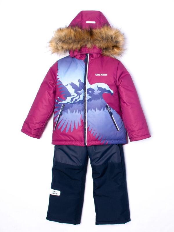 Комплект зимний для мальчика UKI kids Полет бордовый 2