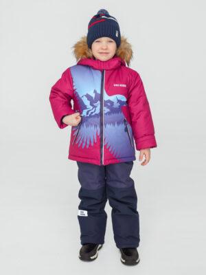 Комплект зимний для мальчика UKI kids Полет бордовый