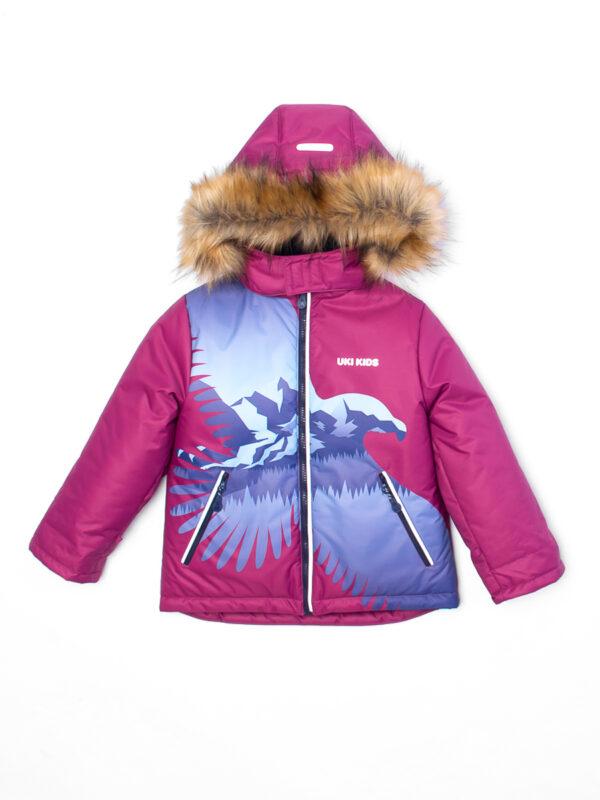 Комплект зимний для мальчика UKI kids Полет бордовый 4
