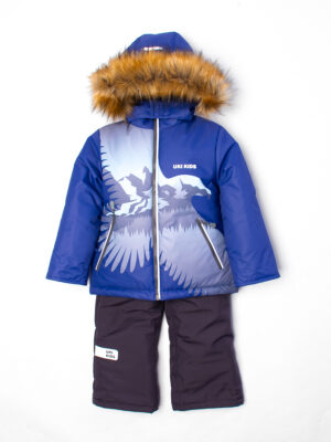 Комплект зимний для мальчика UKI kids Полет синий 2