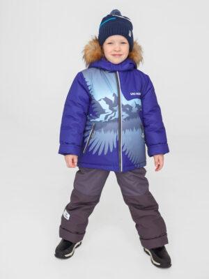 Комплект зимний для мальчика UKI kids Полет синий