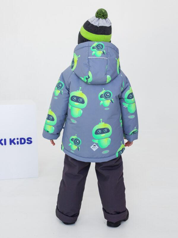 Комплект зимний для мальчика UKI kids Робот серый 1