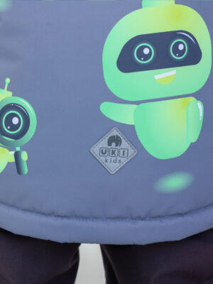 Комплект зимний для мальчика UKI kids Робот серый 2