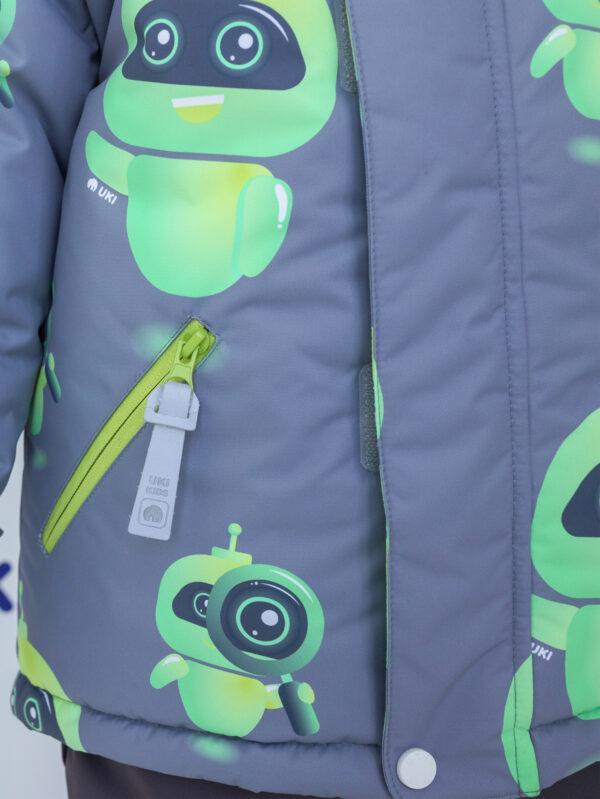 Комплект зимний для мальчика UKI kids Робот серый 3