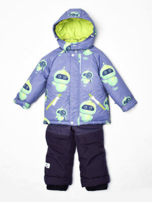 Комплект зимний для мальчика UKI kids Робот серый 4