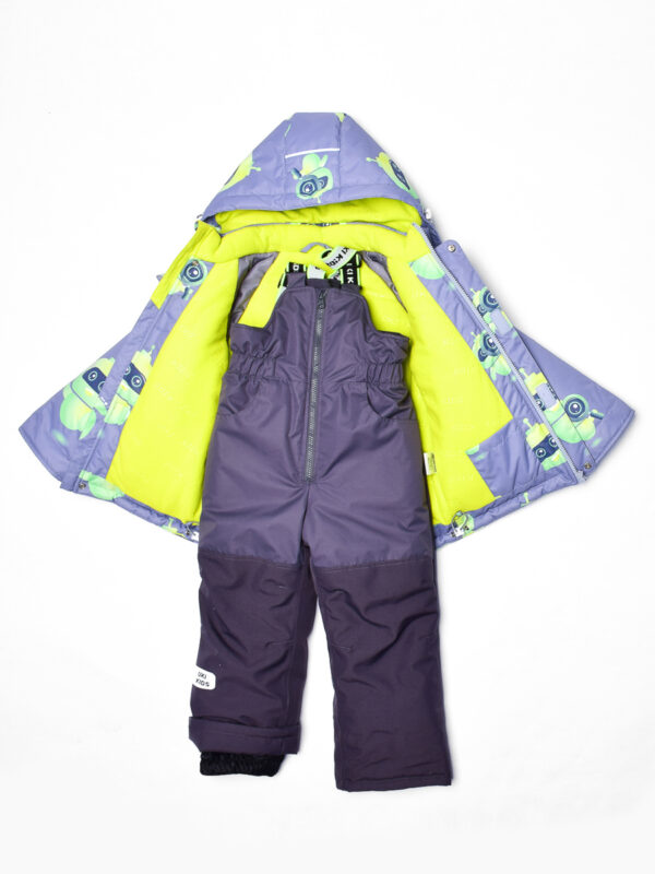 Комплект зимний для мальчика UKI kids Робот серый 7