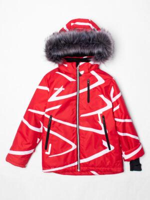 Комплект зимний UKI kids Зиг-заг красный-черный 10