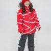 Комплект зимний UKI kids Зиг-заг красный-черный