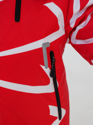 Комплект зимний UKI kids Зиг-заг красный-черный 3