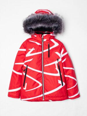 Комплект зимний UKI kids Зиг-заг красный-черный 5
