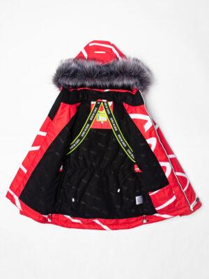 Комплект зимний UKI kids Зиг-заг красный-черный 6