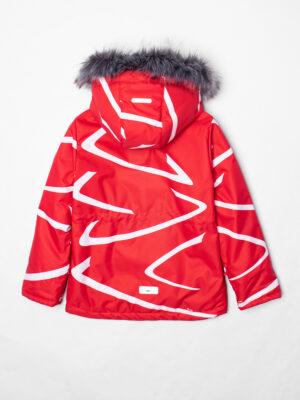 Комплект зимний UKI kids Зиг-заг красный-черный 7