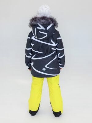 Комплект зимний UKI kids Зиг-заг черный-желтый 1